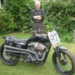 Steve and modified 883 sportster race bike